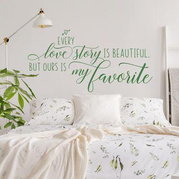 Scritte adesive per pareti - Favorite Love Story