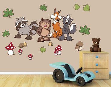 Adesivo murale - Forest Friends