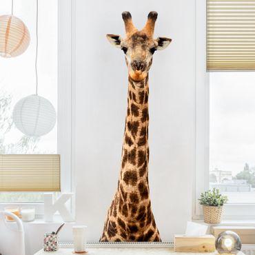 Adesivo murale Giraffe head