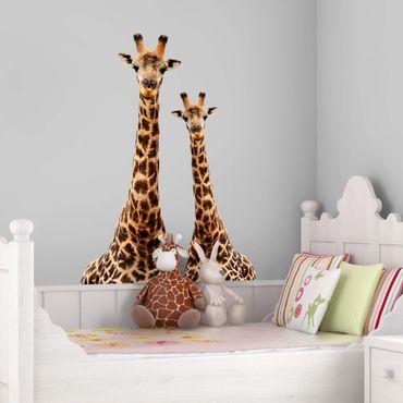 Adesivo murale Portrait of two giraffes