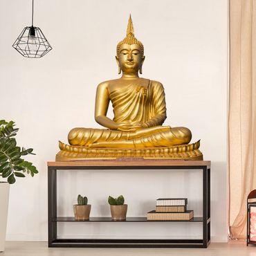 Adesivo murale Buddha d'oro
