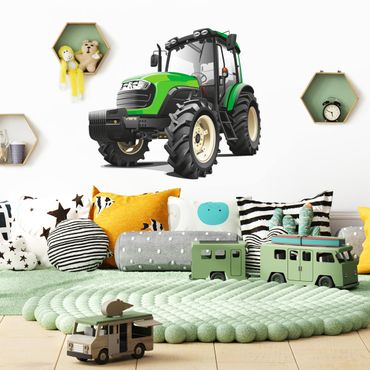 Adesivi murali bambini - Grande trattore verde