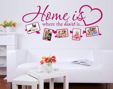Adesivo murale - La casa è dove il cuore è