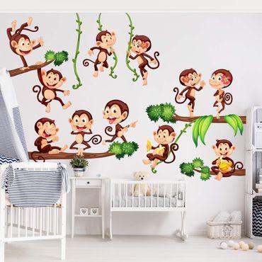 Adesivo murale Monkeys from the Jungle