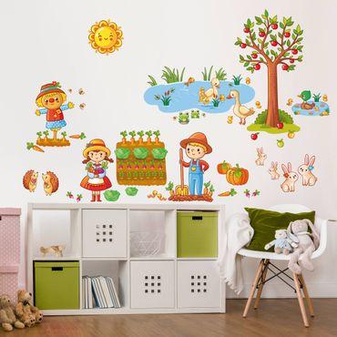 Adesivo murale Farm - Garden Set