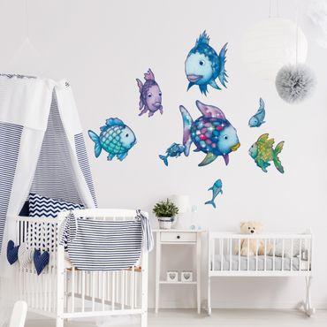 Adesivi murali bambini - Arcobaleno - Set di pesciolini colorati - Stickers cameretta