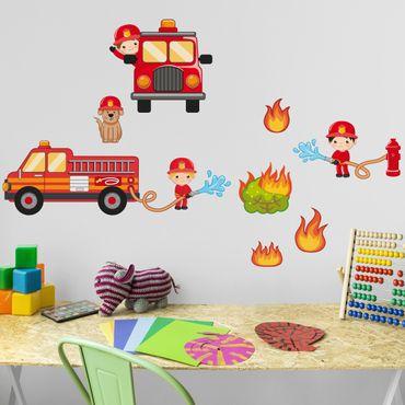 Adesivo murale Fire Brigade in Action Set