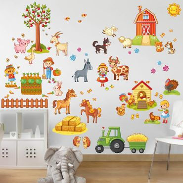 Adesivo murale Big Farm-Set