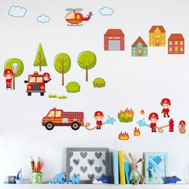 Adesivo murale Big Firefighter Set