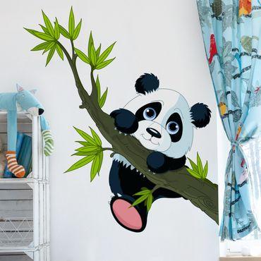 Adesivi murali bambini - Panda arrampicante - Stickers animali cameretta
