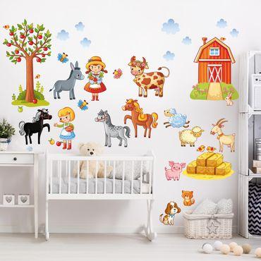 Adesivo murale Small Farm-Set