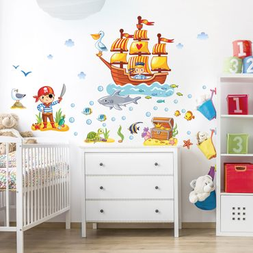 Adesivo murale Pirates set