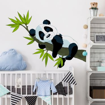 Adesivi murali bambini - Panda dorme - Stickers cameretta