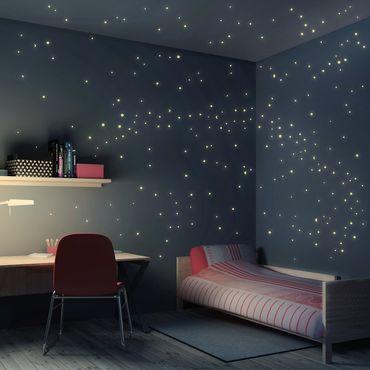 Adesivo murale per bambini - Set di 250 Stelline Luminose - Adesivi cameretta