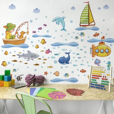 Adesivo murale Underwater World - Submarine Set