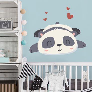 Adesivo murale Panda in love