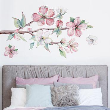 Adesivo murale fiori - Ramo di ciliegio effetto acquerello