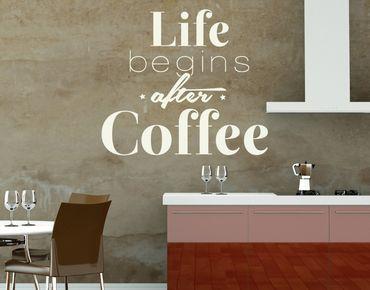 Adesivo murale - La vita comincia dopo il caffè