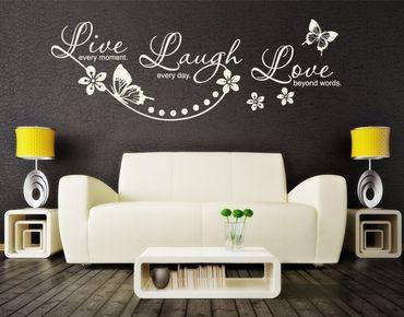 Adesivo murale - Live Laugh Love