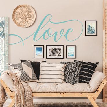 Scritte adesive per pareti - Love in corsivo