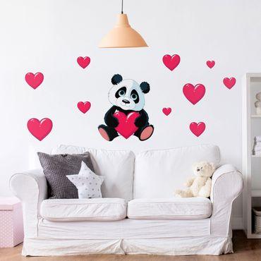 Adesivo murale bambini - Panda Con Cuore - Sticker cameretta