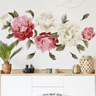 Adesivi murali fiori - Set di peonie - Stickers pareti