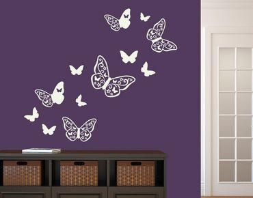 Adesivo murale - farfalla Deco