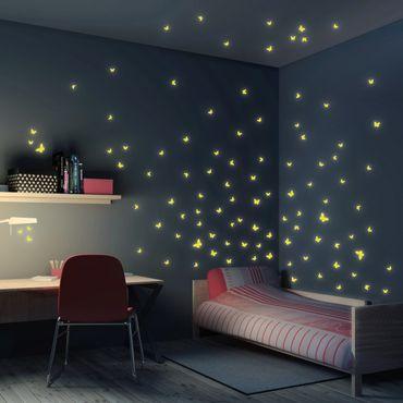 Adesivi murali fluorescenti - Farfalle 100 Set