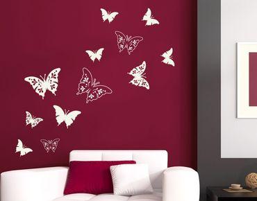 Adesivo murale - Farfalle ornamenti decorativi