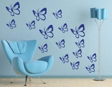 Adesivo murale - Sciame di farfalle Set