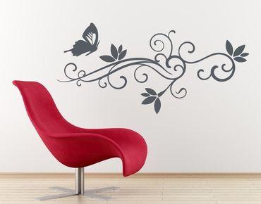 Adesivo murale - fiorisce ornamento