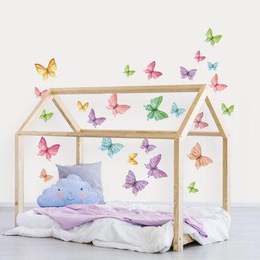 Adesivo murale 3D - Set Farfalle Luccicanti