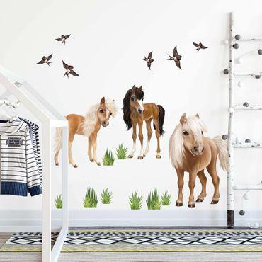 Adesivo murale 3D - Set Pony