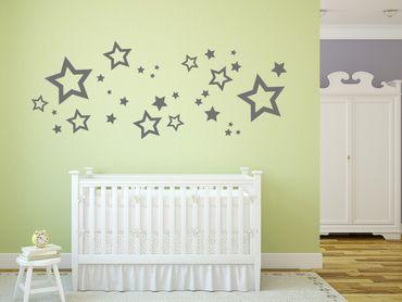 Adesivo murale - stelle Set