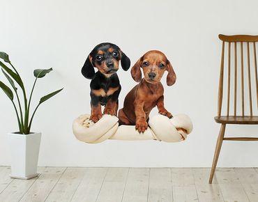 Adesivo murale - Cucciolo con l'osso