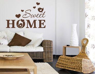 Adesivo murale - Sweet home uccelli