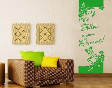 Adesivo murale - Seguire i tuoi sogni