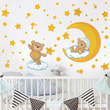 Adesivi murali con motivo - Il sogno del cielo stellato di Teddy ambientato