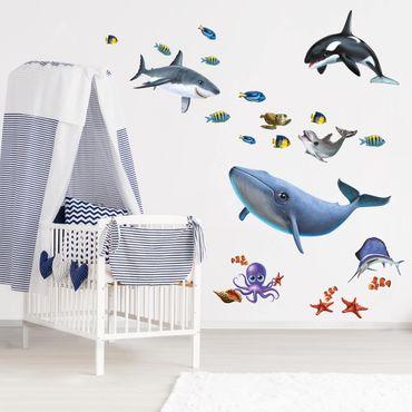 Adesivi murali bambini - Fauna marina