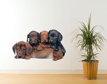 Adesivo murale - cuccioli giocherelloni