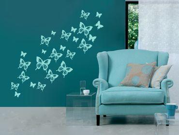 Adesivo murale - molte farfalle