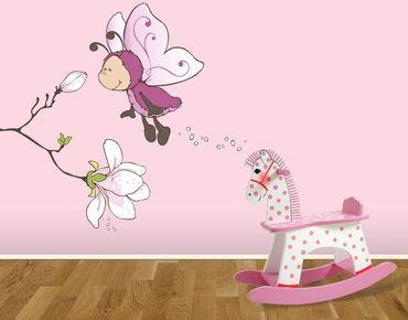 Adesivo murale - Vivian con magnolia profumata