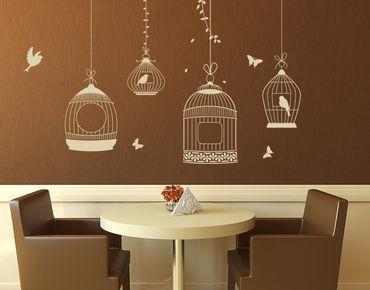 Adesivo murale - gabbie per uccelli