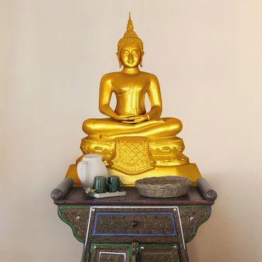 Adesivo murale Zen Buddha d'oro