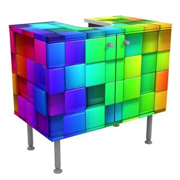 Mobile per lavabo design - 3D Cubes