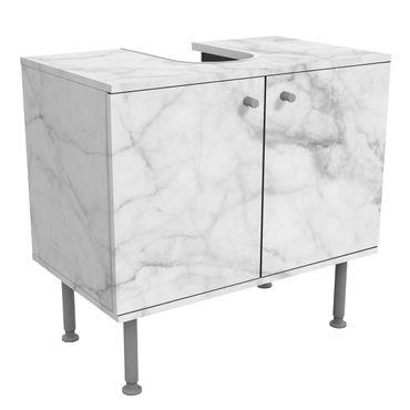 Mobile per lavabo design - Bianco Carrara-