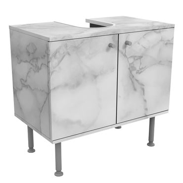 Mobile per lavabo design - Marble Look Black And White-