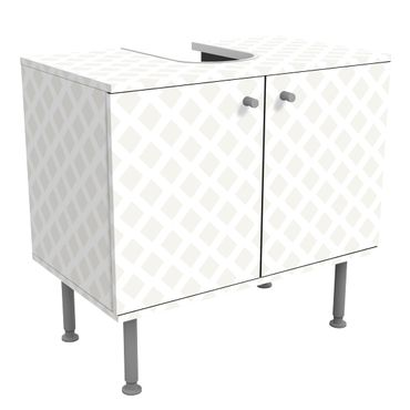Mobile per lavabo design - Diamond Lattice Light Beige-