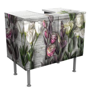 Mobile per lavabo design Tulip Pink Shabby wood optic