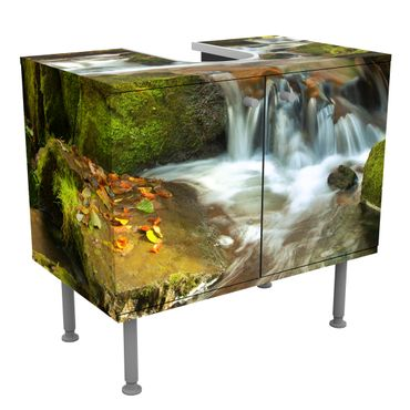 Mobile per lavabo design Waterfall autumn forest